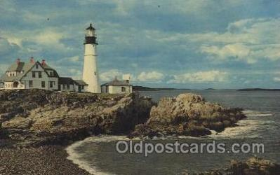 lgh100031 - Portland Head Light Maine USA Postcards Postcards
