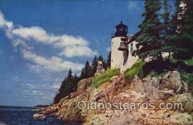 lgh100035 - Bass Harbor light Maine USA Postcards Postcards