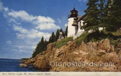 lgh100039 - Bass Harbor Light Maine USA Postcards Postcards