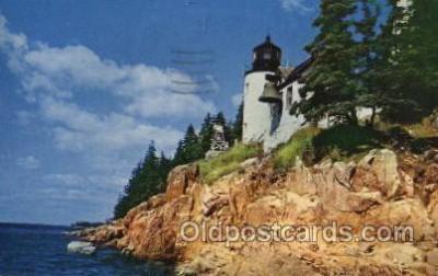 lgh100042 - Bass Harbor light Maine USA Postcards Postcards