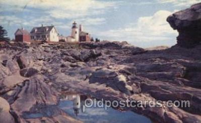 lgh100048 - A Striking View of Pemaquid light Maine USA Postcards Postcards