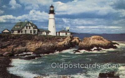 lgh100059 - Portland Head Light Maine USA Postcards Postcards
