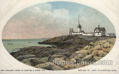 lgh200018 - Eastern P.T. Light, Gloucester, Mass, USA Massachusetts USA, Light House, Houses Lighthouse, LightHouses Postcard Postcards