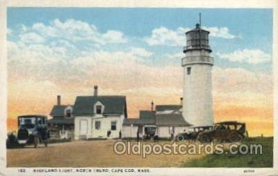 lgh200040 - Highland light, cape  cod, Mass, USA Massachusetts USA, Light House, Houses Lighthouse, LightHouses Postcard Postcards