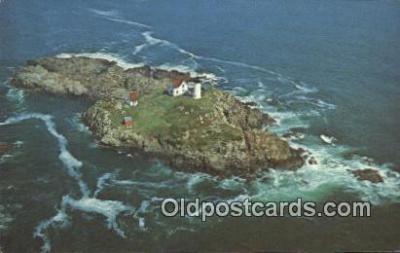 lgh200164 - Cape Neddick The Nubble Light York, ME, USA Postcard Post Cards Old Vintage Antique