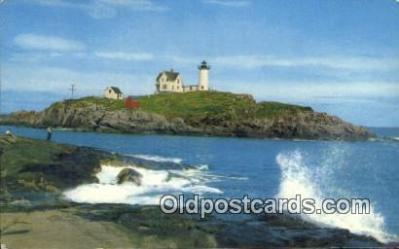 lgh200166 - Cape Neddick The Nubble Light York, ME, USA Postcard Post Cards Old Vintage Antique