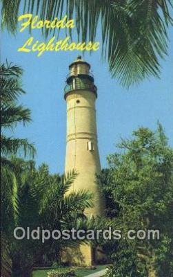lgh200200 - Florida Lighthouse Gulf Stream, FL, USA Postcard Post Cards Old Vintage Antique