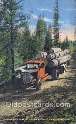 Hauling Pine Logs