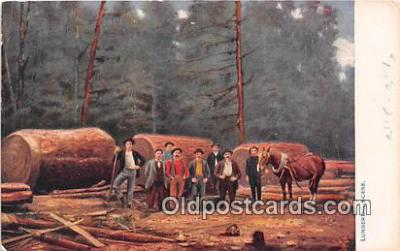 Lumbering Scene