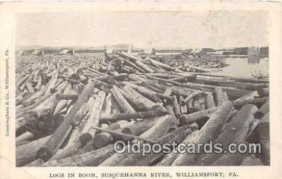 Logs in Boom, Susquehanna River
