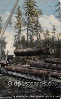Loading Logs on a Train