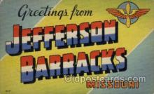 LLM001002 - Jefferson Barracks, Missouri Large Letter Military Post Card Postcards