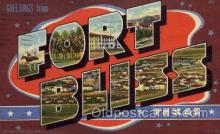 LLM001006 - Fort Bliss, Texas Large Letter Military Post Card Postcards