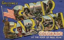 LLM001007 - Camp Carson, Colorado Large Letter Military Post Card Postcards