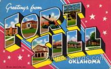 LLM001008 - Fort Sill, Oklahoma Large Letter Military Post Card Postcards