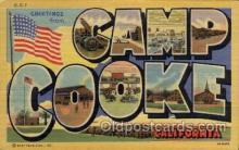 LLM001011 - Camp Cooke, California Large Letter Military Post Card Postcards