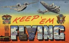 LLM001014 - Keep em Flying Antique Postcard Post Cards