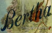 LLN001006 - Bertha Large Letter Name, Names, Postcard Postcards