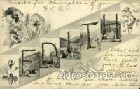 LLN001007 - Edith Large Letter Name, Names, Postcard Postcards