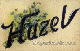 LLN001015 - Hazel Large Letter Name, Names, Postcard Postcards