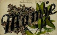 LLN001022 - Mamie Large Letter Name, Names, Postcard Postcards