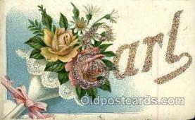 LLN001024 - Earl Large Letter Name, Names, Postcard Postcards