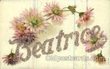 LLN001047 - Beatrice Large Letter Name, Names, Postcard Postcards