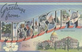LLS001038 - Mississippi Large Letter State Postcard Postcards