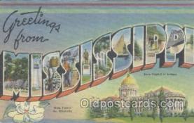 LLS001065 - Mississippi Large Letter State Postcard Postcards