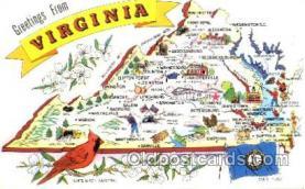LLS001084 - Virginia Large Letter State Postcard Postcards