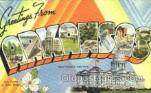 LLS001092 - Large Letter State Postcard Postcards Arkansas