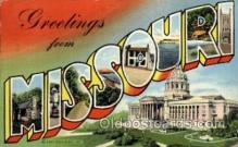 LLS001150 - Missouri Large Letter State States Post Cards Postcards