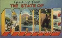 LLS001154 - Maine Large Letter State States Post Cards Postcards