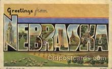 LLS001155 - Nebraska Large Letter State States Post Cards Postcards