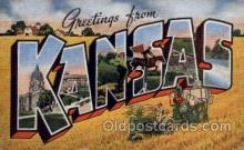 LLS001157 - Kansas Large Letter State States Post Cards Postcards