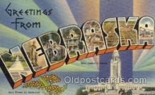 LLS001162 - Nebraska Large Letter State States Post Cards Postcards