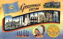 LLS001170 - Large Letter States, Greetings From Oklahoma Postcard Postcards