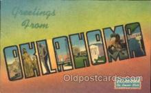 LLS001171 - Large Letter States, Greetings From Oklahoma Postcard Postcards