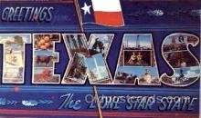 LLS001175 - Large Letter States, Greetings From Texas Postcard Postcards