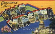 LLS001178 - Large Letter States, Greetings From West Virginia Postcard Postcards