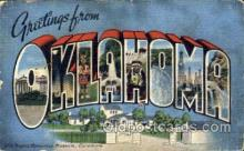 LLS001180 - Large Letter States, Greetings From Oklahoma Postcard Postcards