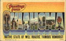 LLS001183 - Large Letter States, Greetings From Oklahoma Postcard Postcards