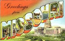LLS001188 - Large Letter States, Greetings From Missouri Postcard Postcards