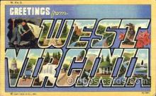 LLS001189 - Large Letter States, Greetings From West Virginia Postcard Postcards