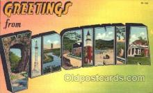 LLS001196 - Large Letter States, Greetings From Virginia Postcard Postcards