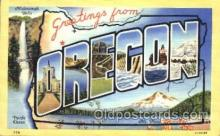 LLS001205 - Large Letter States, Greetings From Oregon Postcard Postcards