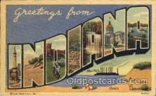 LLS001212 - Large Letter States, Greetings From Indiana Postcard Postcards