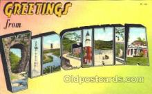 LLS001234 - Large Letter States, Greetings From Virginia Postcard Postcards