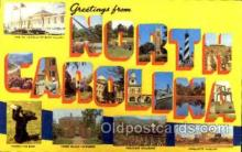 LLS001236 - Large Letter States, Greetings From North Carolina Postcard Postcards