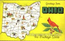 LLS001245 - Large Letter States, Greetings From Ohio Postcard Postcards
